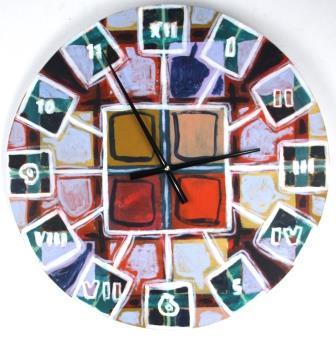 Horloge - peinture- Caroline Mabille
